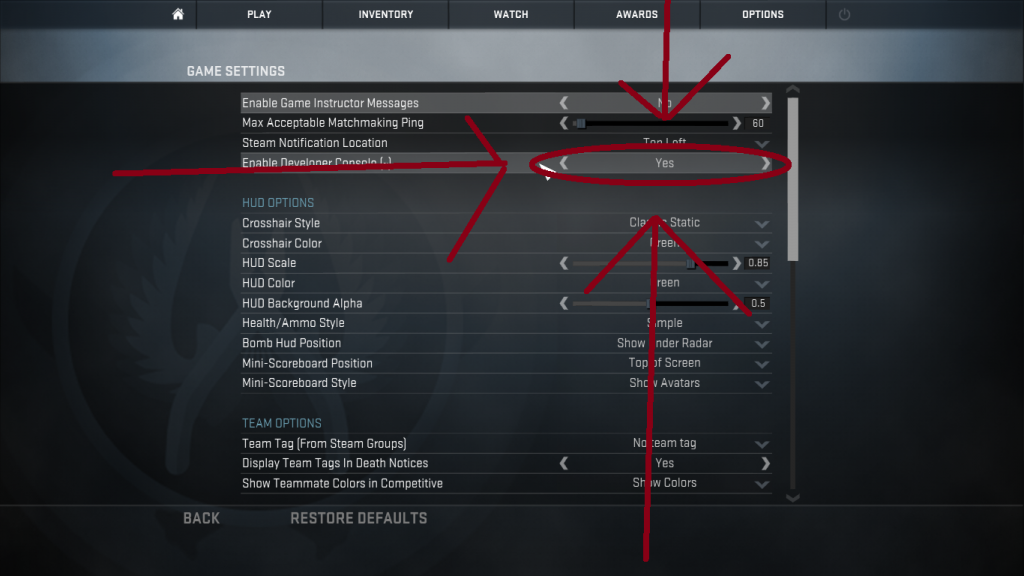 cs go counter strike console tips help 1.6